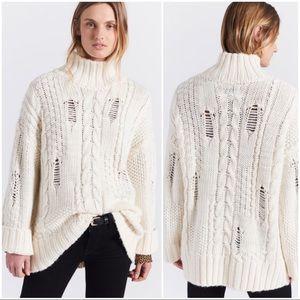Current/Elliott The Vin Distressed Sweater